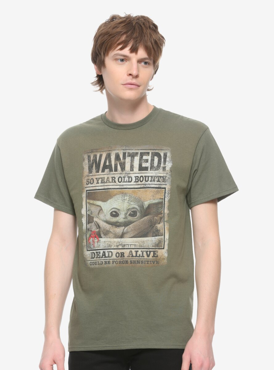 Star Wars The Mandalorian The Child Wanted Poster T-Shirt - BoxLunch Exclusive