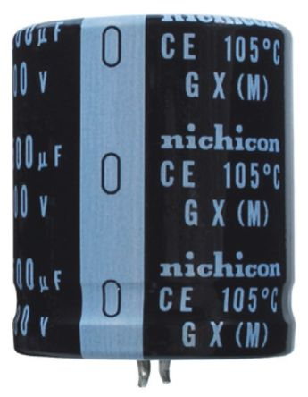Nichicon 180μF Electrolytic Capacitor 400V dc, Through Hole - LGX2G181MELB25 (2)