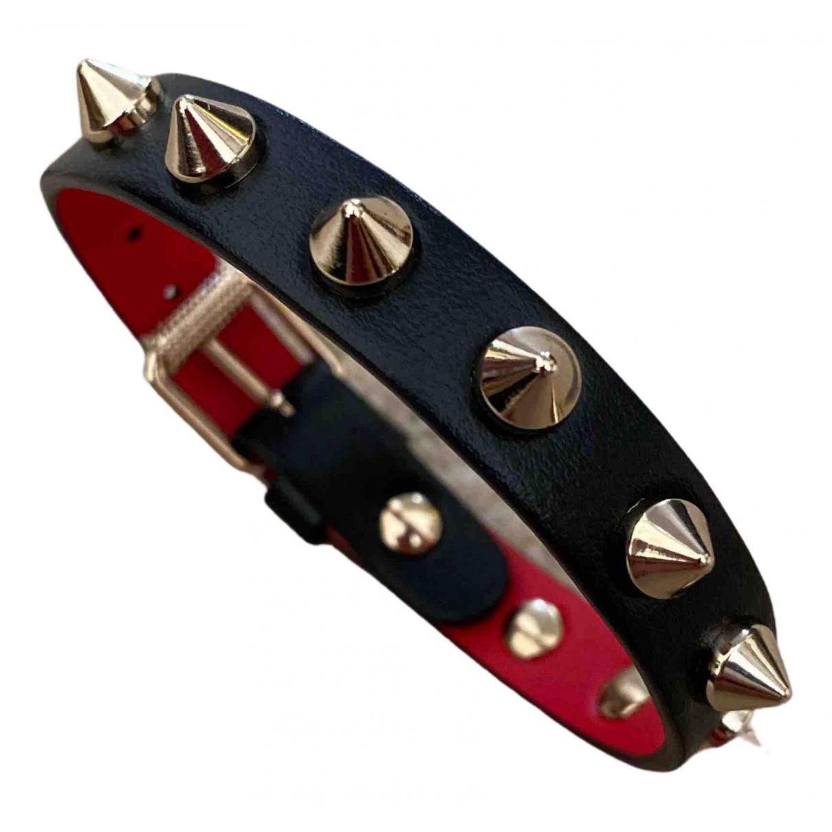 Christian Louboutin \N Black Leather bracelet for Women \N