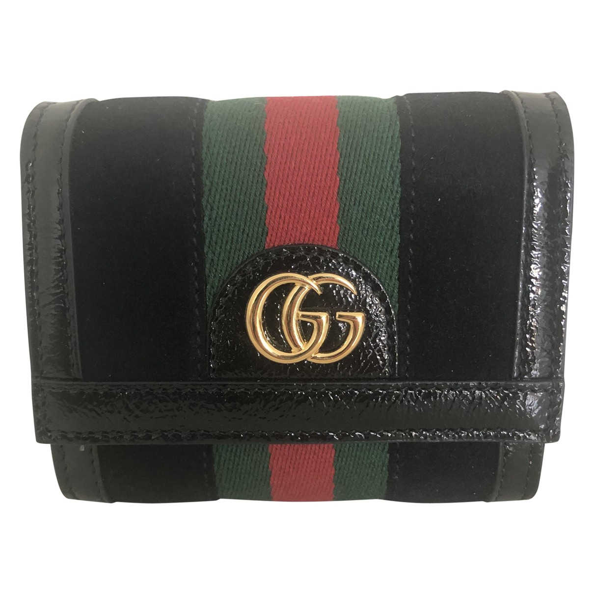 Gucci Ophidia Black Suede wallet for Women \N