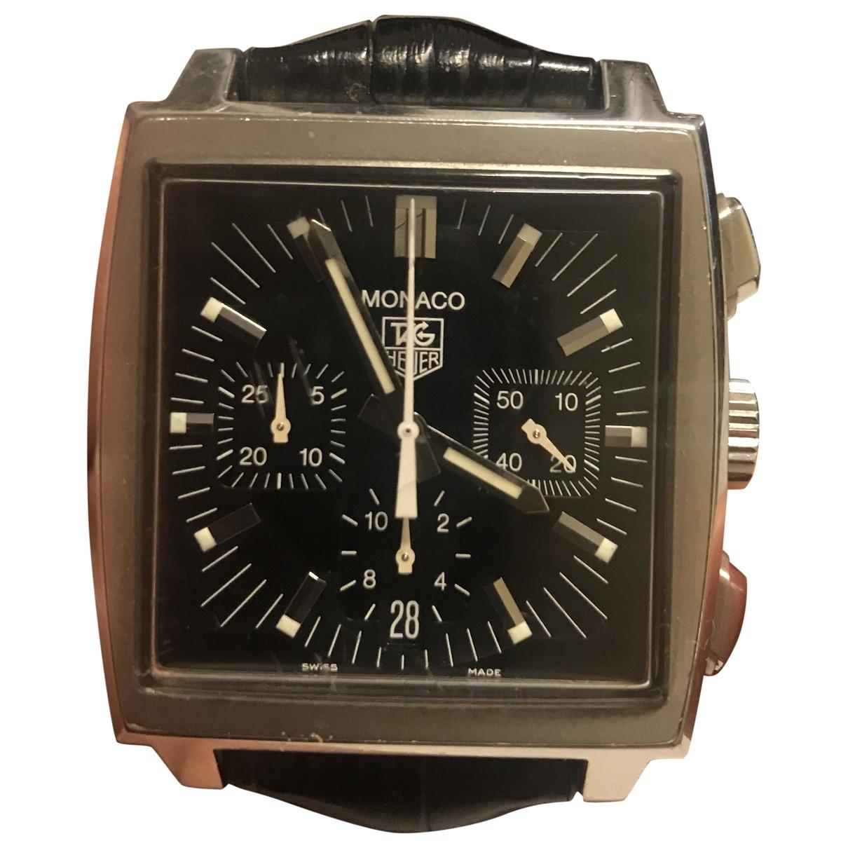 Tag Heuer Monaco Uhr in  Schwarz Stahl