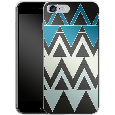 Apple iPhone 6s Plus Silikon Handyhuelle - Blue Triangles von caseable Designs