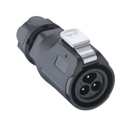 Lumberg Circular Connector, 3 contacts Cable Mount Plug, Solder IP67 (50)