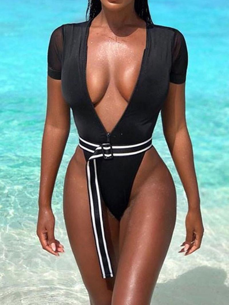 Ericdress V-neck Micro Skimpy Sexy Swimwear