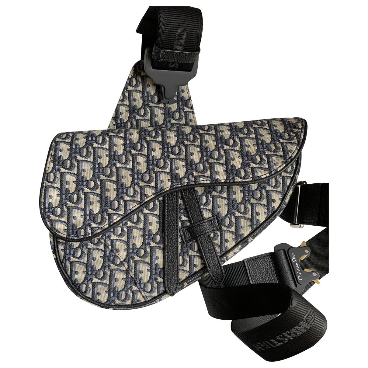 Dior Homme - Sac Saddle Dior Oblique pour homme en toile - beige