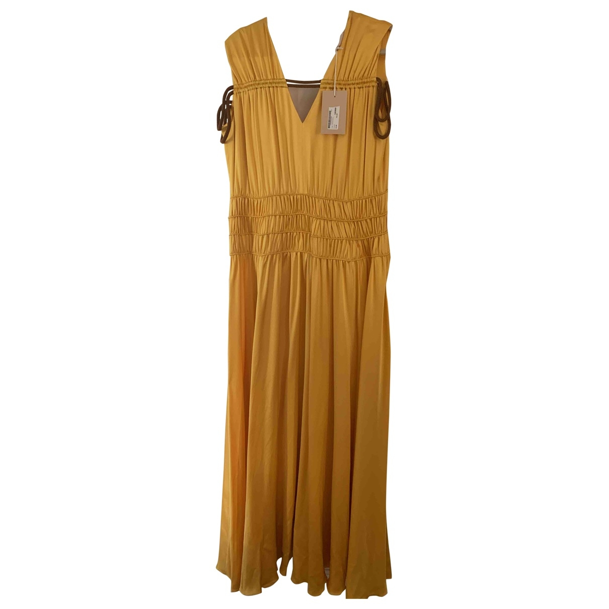 Roksanda Ilincic \N Gold Silk dress for Women 14 UK