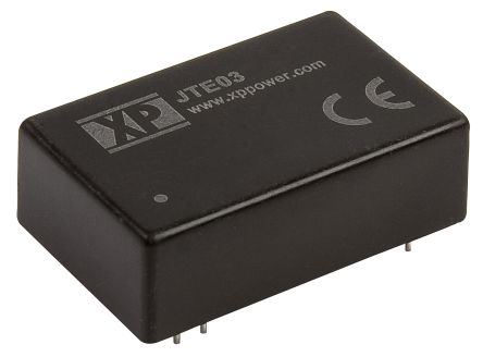 XP Power JTE03 3W Isolated DC-DC Converter Through Hole, Voltage in 9 → 36 V dc, Voltage out 3.3V dc