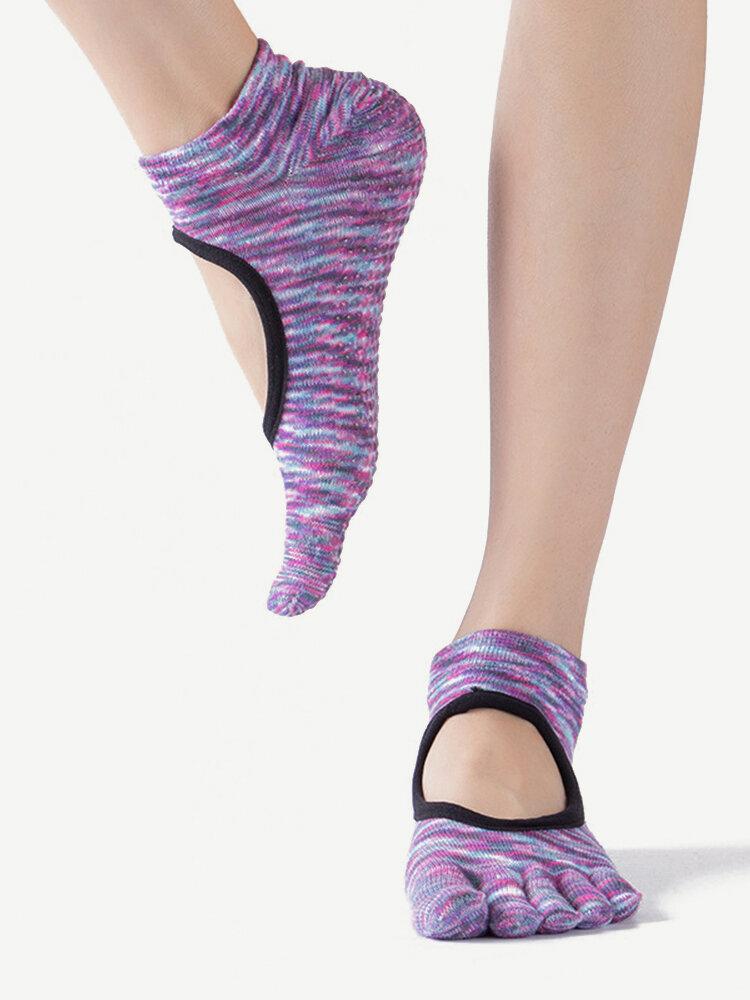Women Five Toes Bare Feet Professional Yoga Non Slip Dance Socks