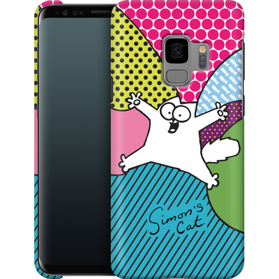 Samsung Galaxy S9 Smartphone Huelle - Simon´s Cat Colourful Pattern von Simons Cat