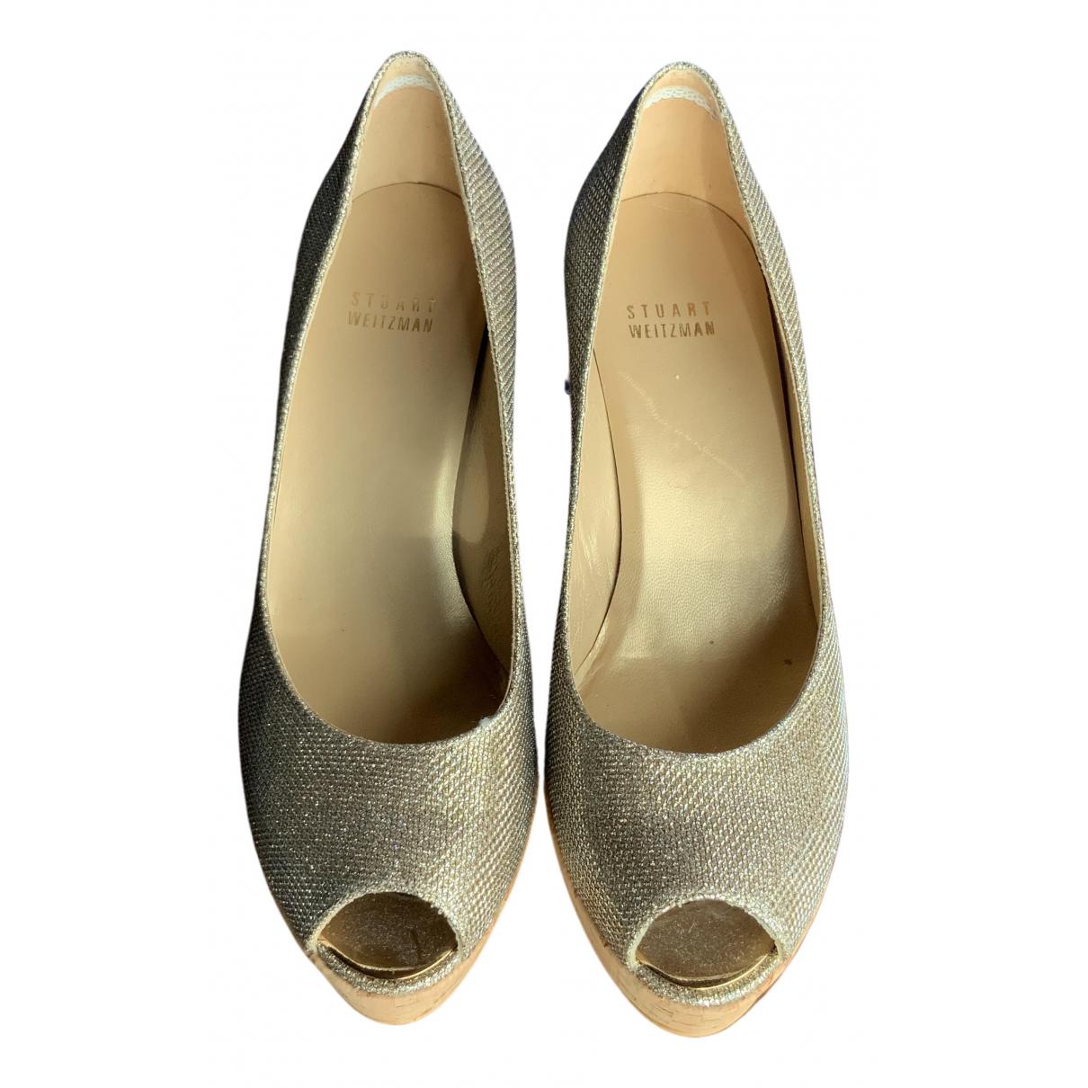 Stuart Weitzman \N Grey Leather Heels for Women 38 IT