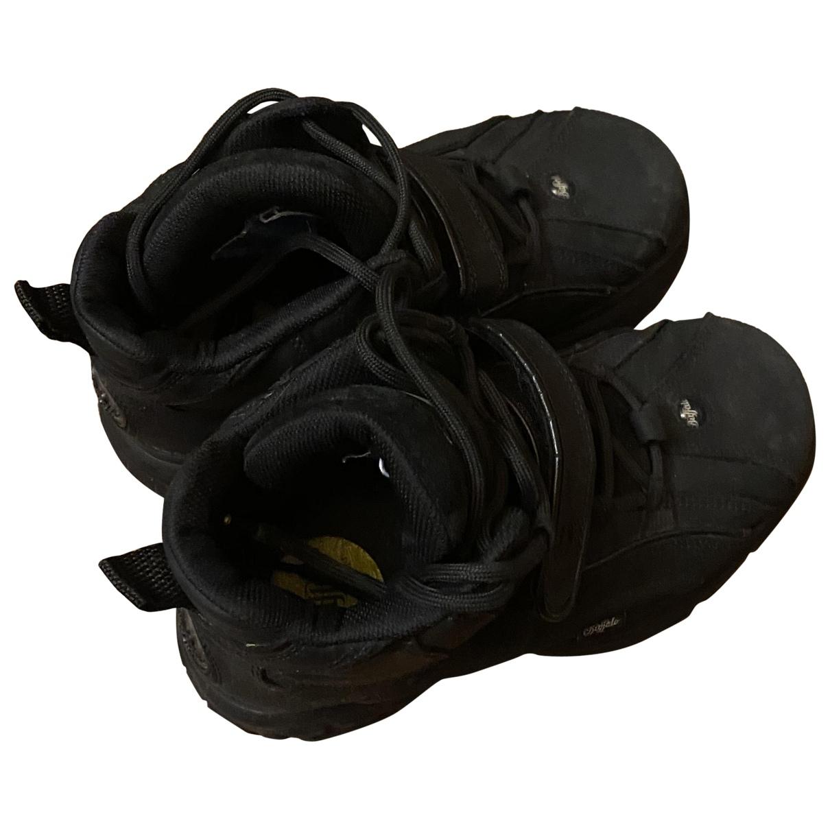 Buffalo - Boots   pour femme en caoutchouc - noir
