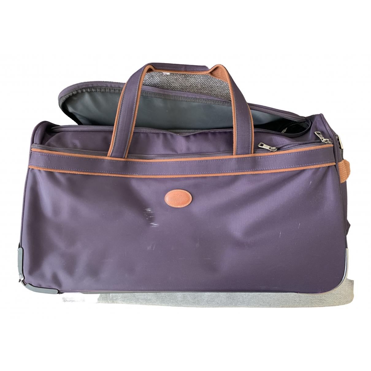 Longchamp - Sac de voyage   pour femme - violet