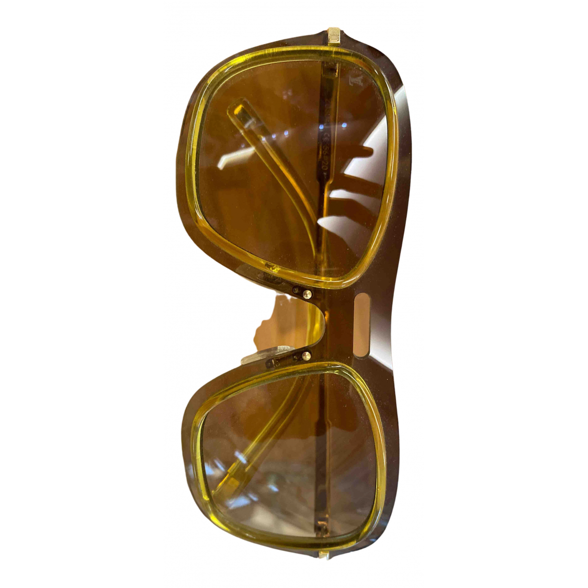 Louis Vuitton N Gold Metal Sunglasses for Men N