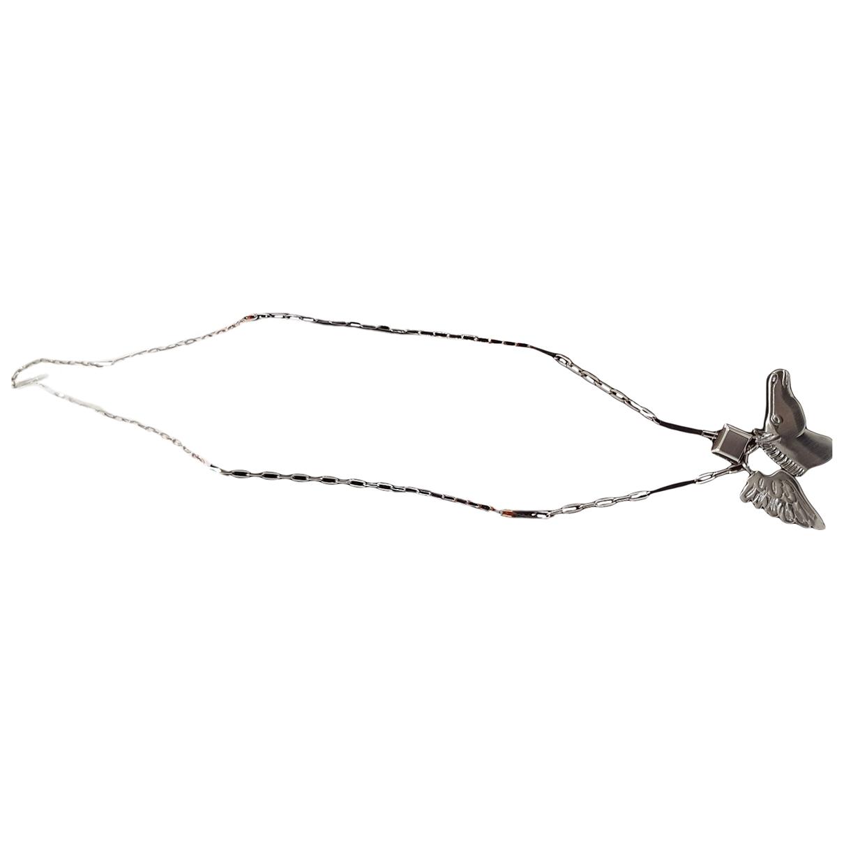 Hermes \N Kette in  Silber Metall