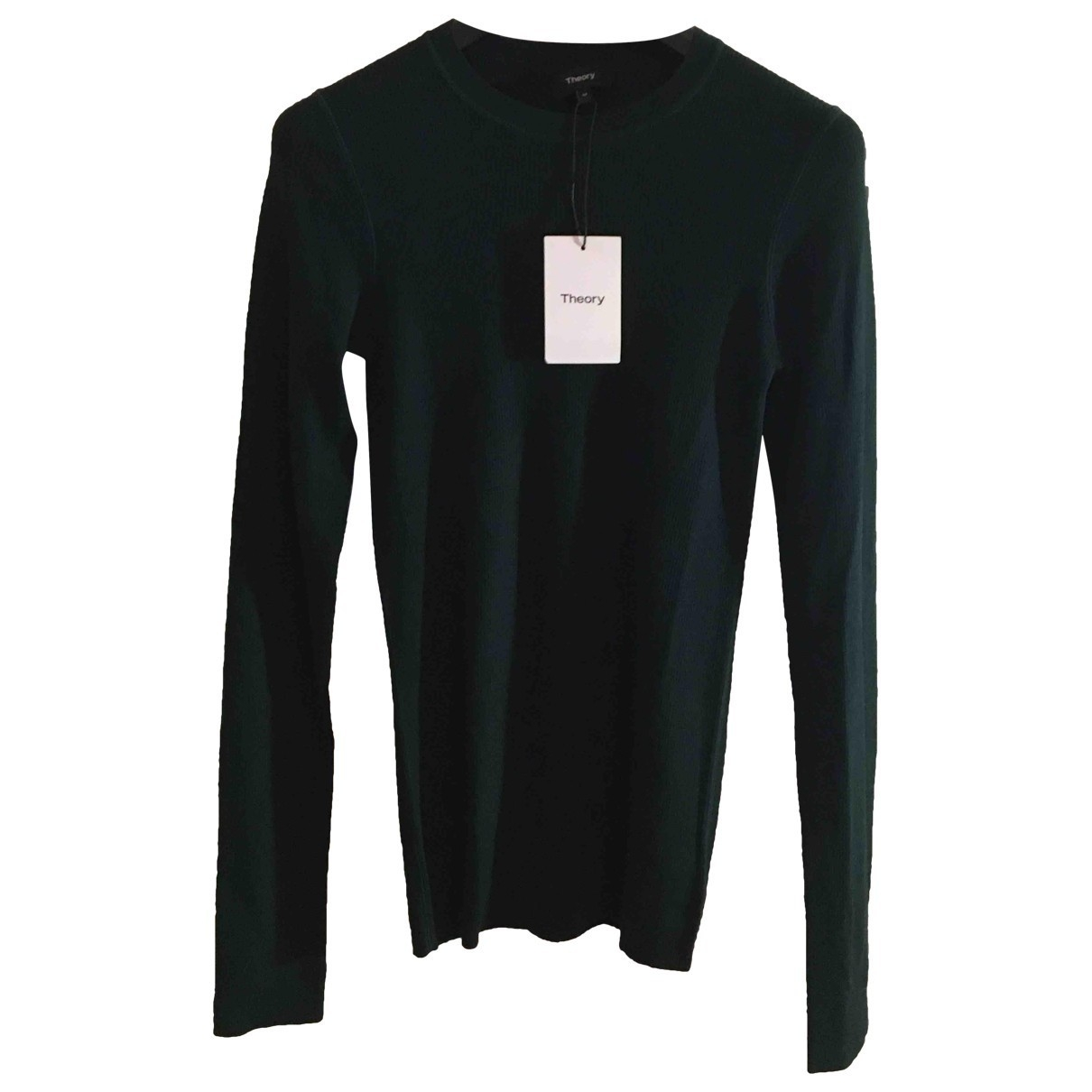 Theory - Pull   pour femme en laine - vert