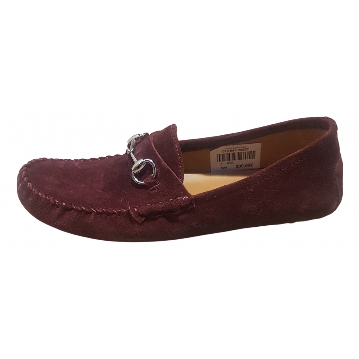 Gucci N Brown Suede Flats for Kids 32 FR