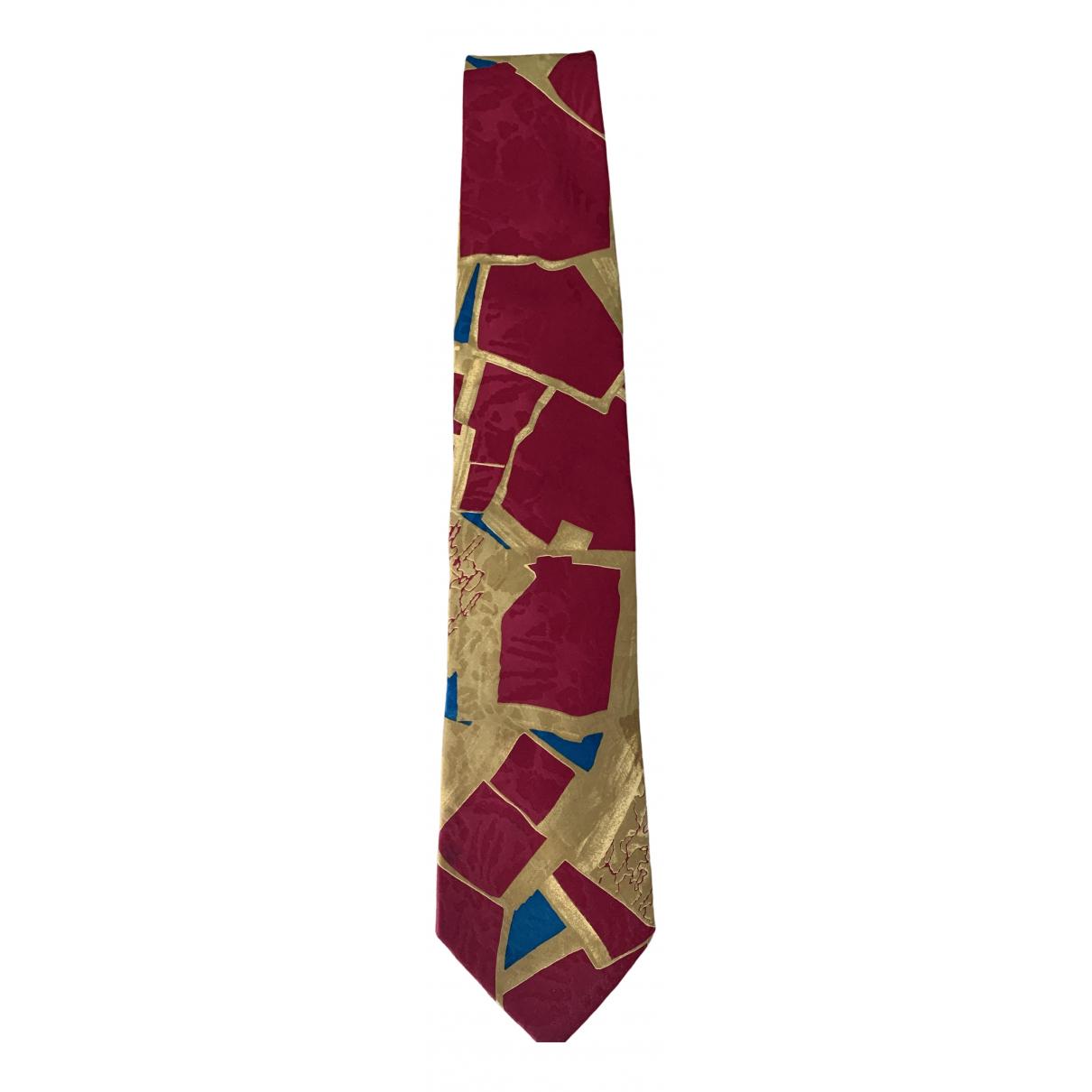 Pal Zileri \N Krawatten in  Bordeauxrot Seide