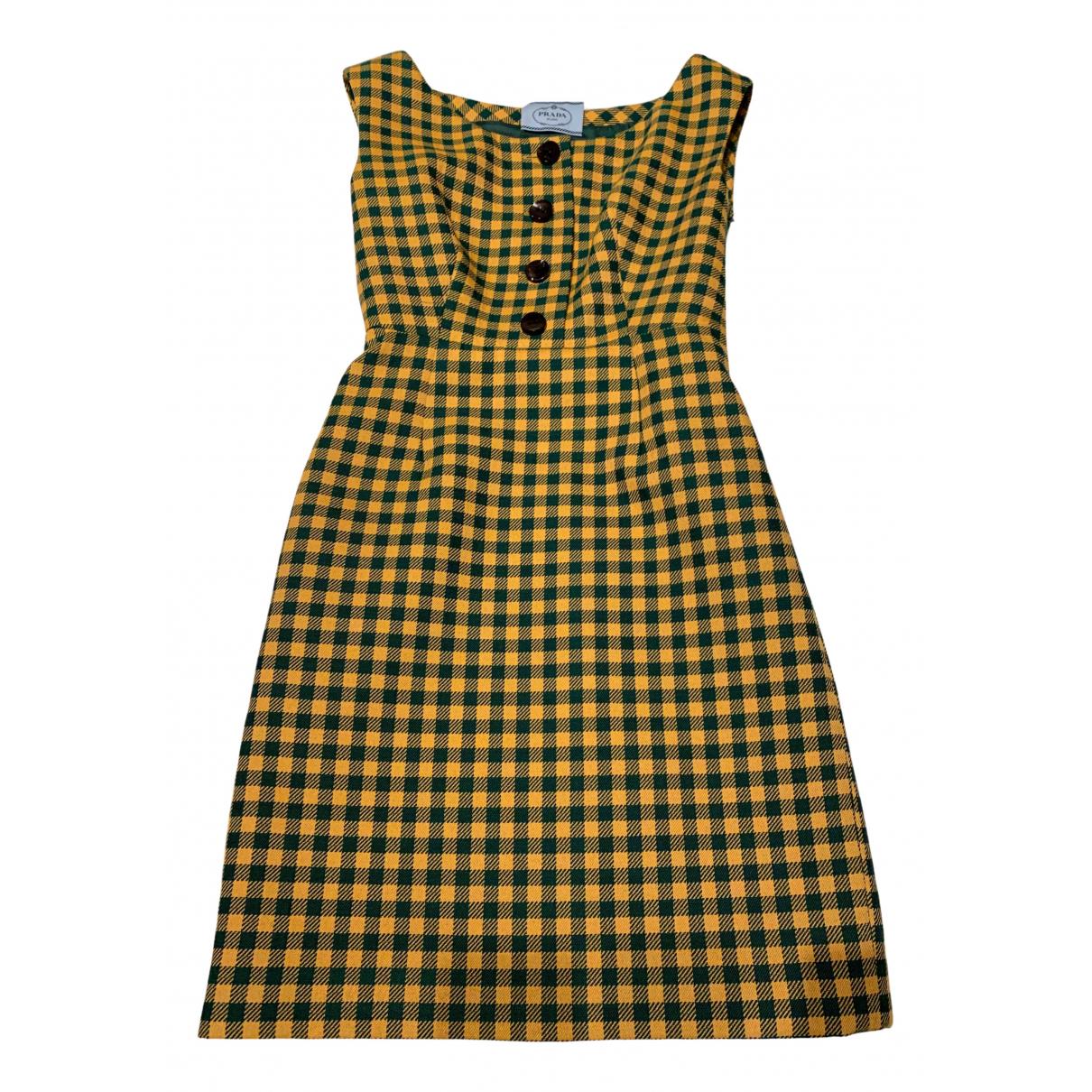 Prada N Green Wool dress for Women 42 IT