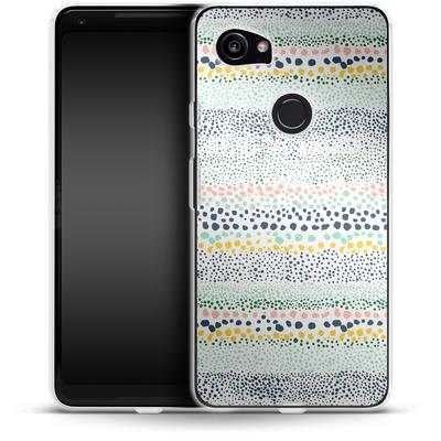 Google Pixel 2 XL Silikon Handyhuelle - Little Dots Textured White von Ninola Design