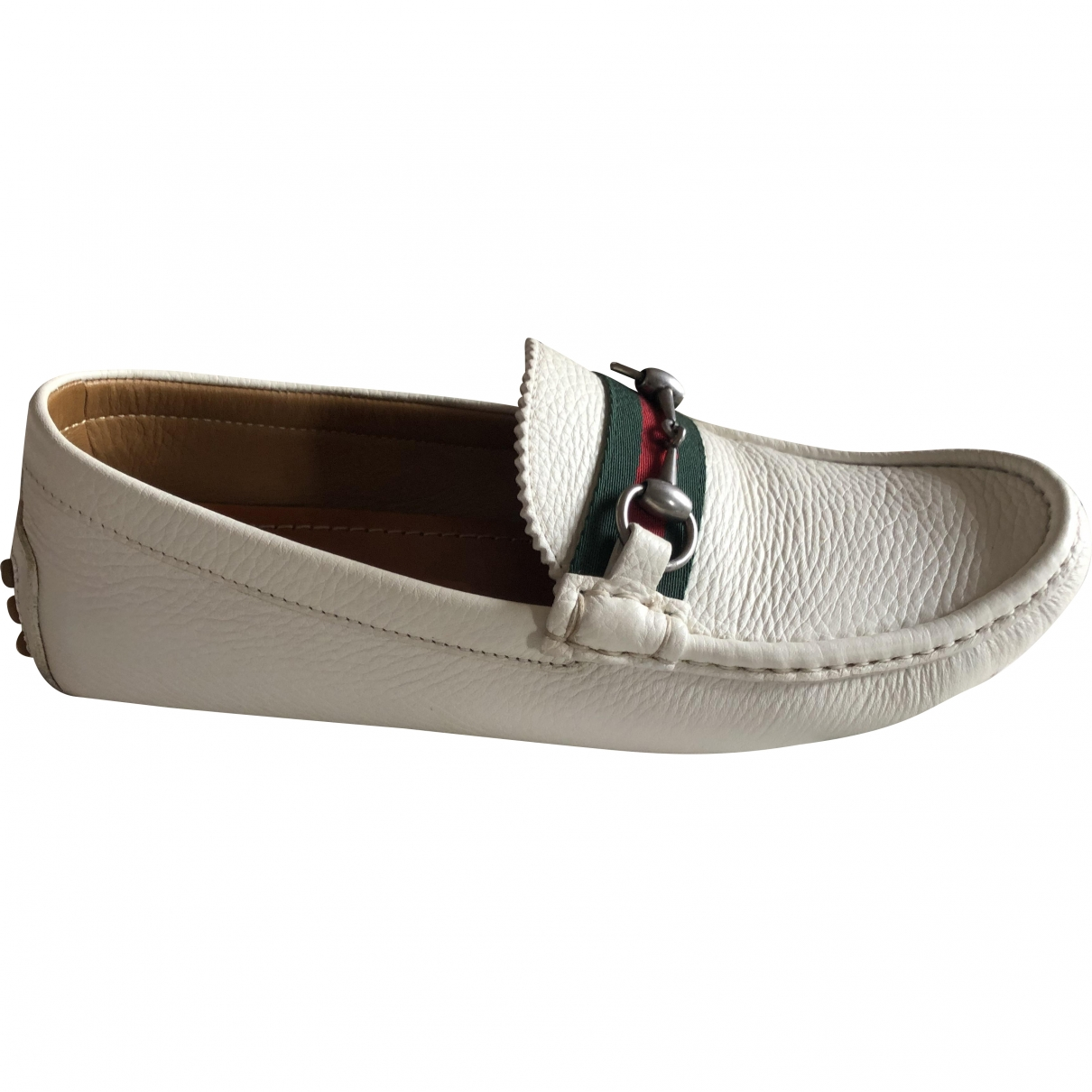 Gucci \N White Leather Flats for Men 7 UK