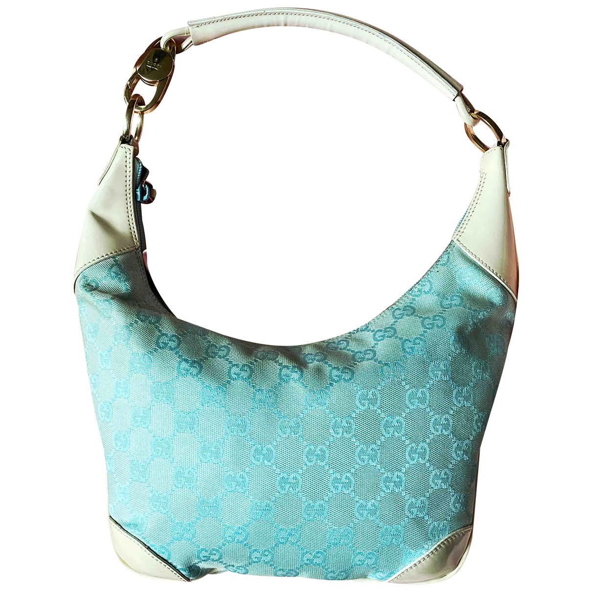 Gucci Hobo Turquoise Cloth handbag for Women \N