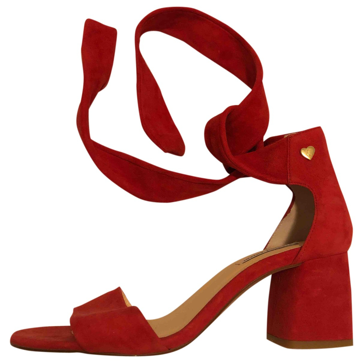 Fabienne Chapot N Red Leather Sandals for Women 38 EU