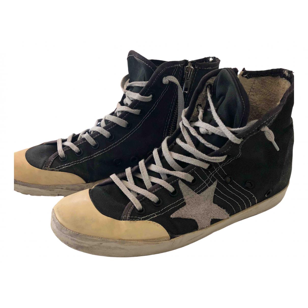 Golden Goose \N Sneakers in  Schwarz Leinen