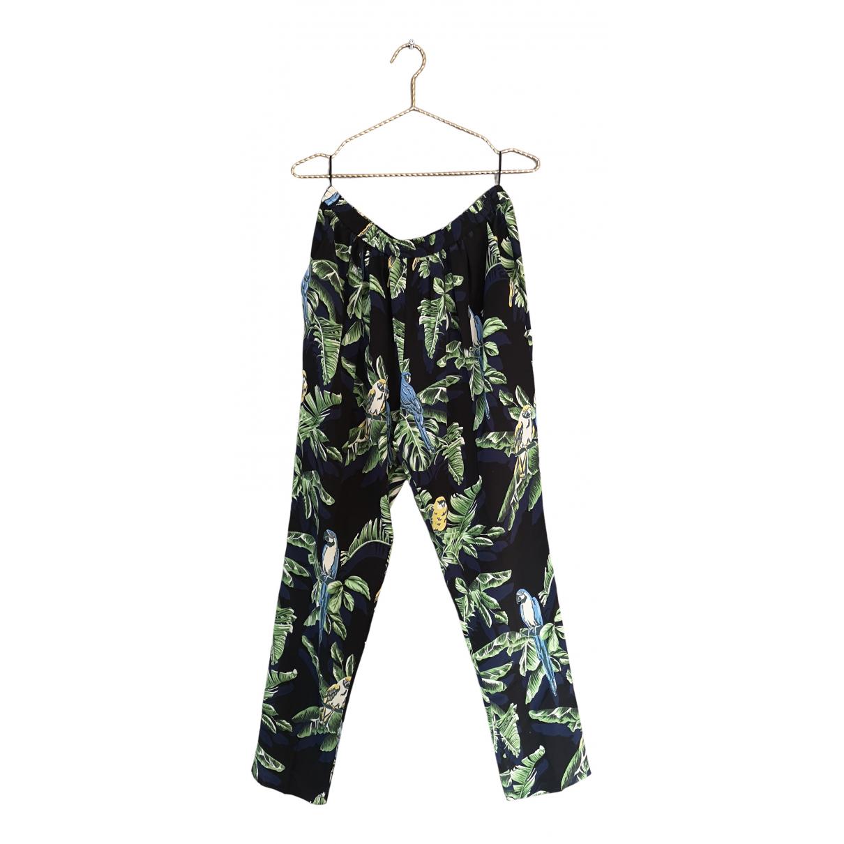 Stella Mccartney N Multicolour Silk Trousers for Women 44 IT
