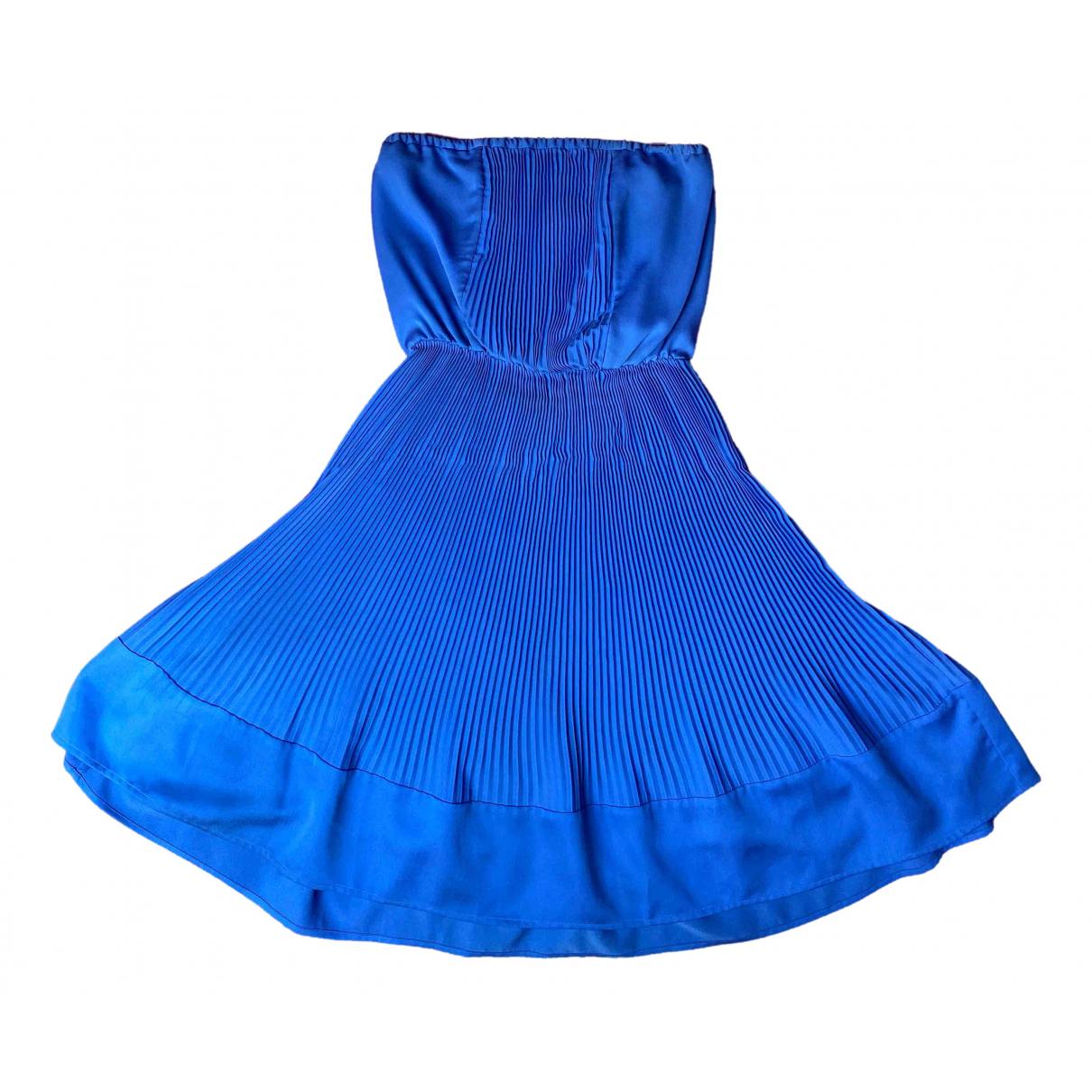 Mauro Grifoni \N Kleid in  Blau Baumwolle - Elasthan