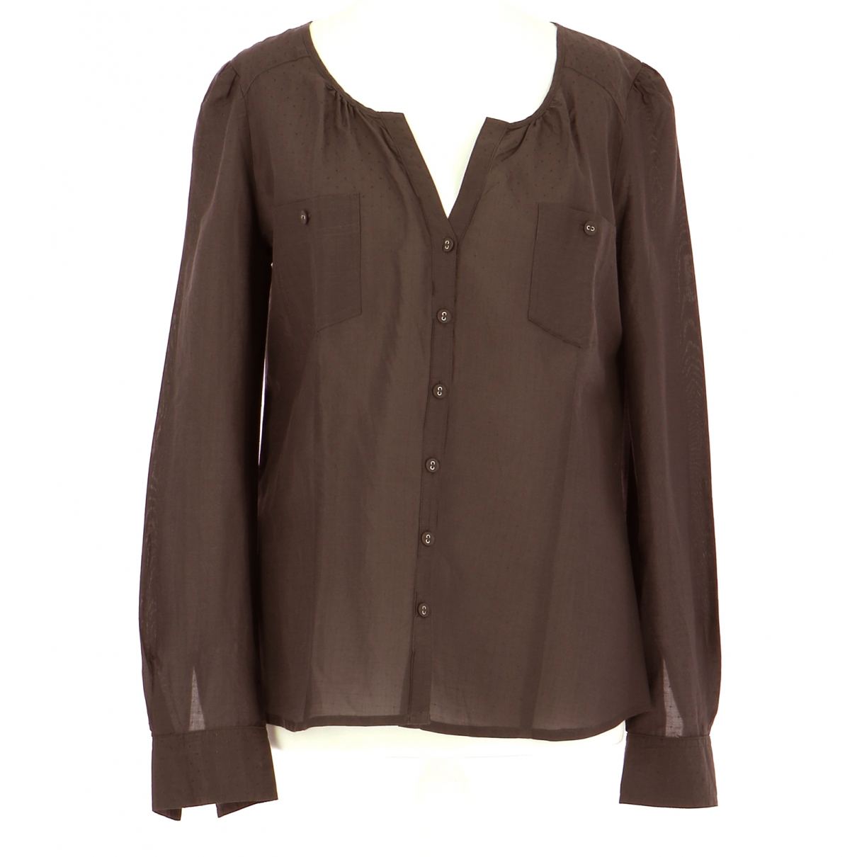Comptoir Des Cotonniers N Brown Cotton Shirts for Men 38 EU (tour de cou / collar)