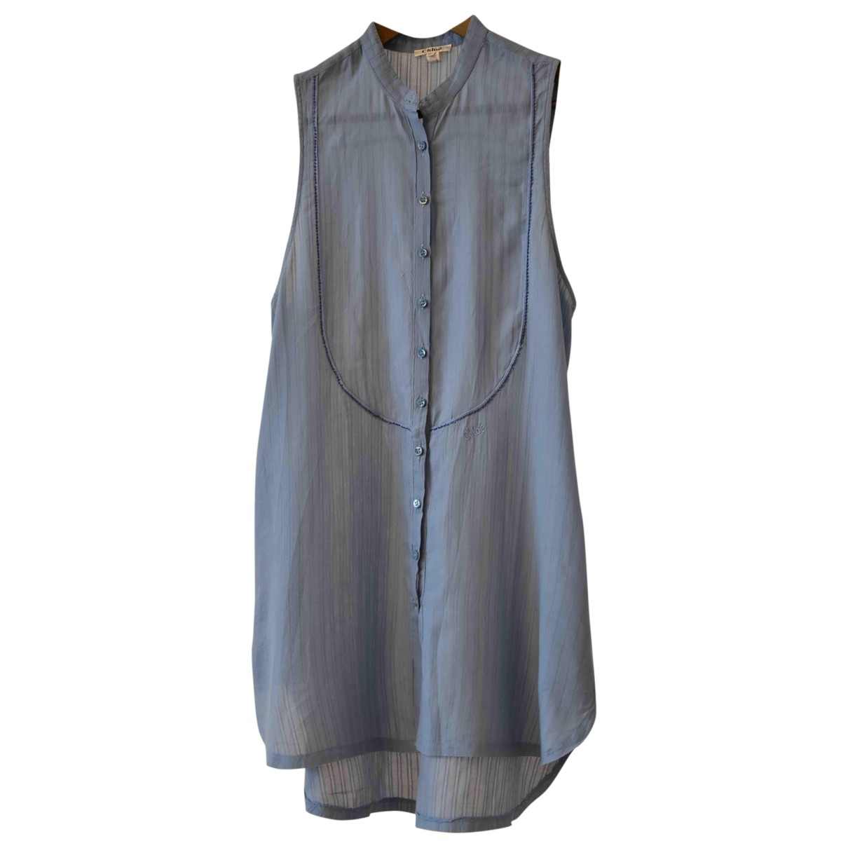 Chloé \N Blue Cotton dress for Women 42 IT