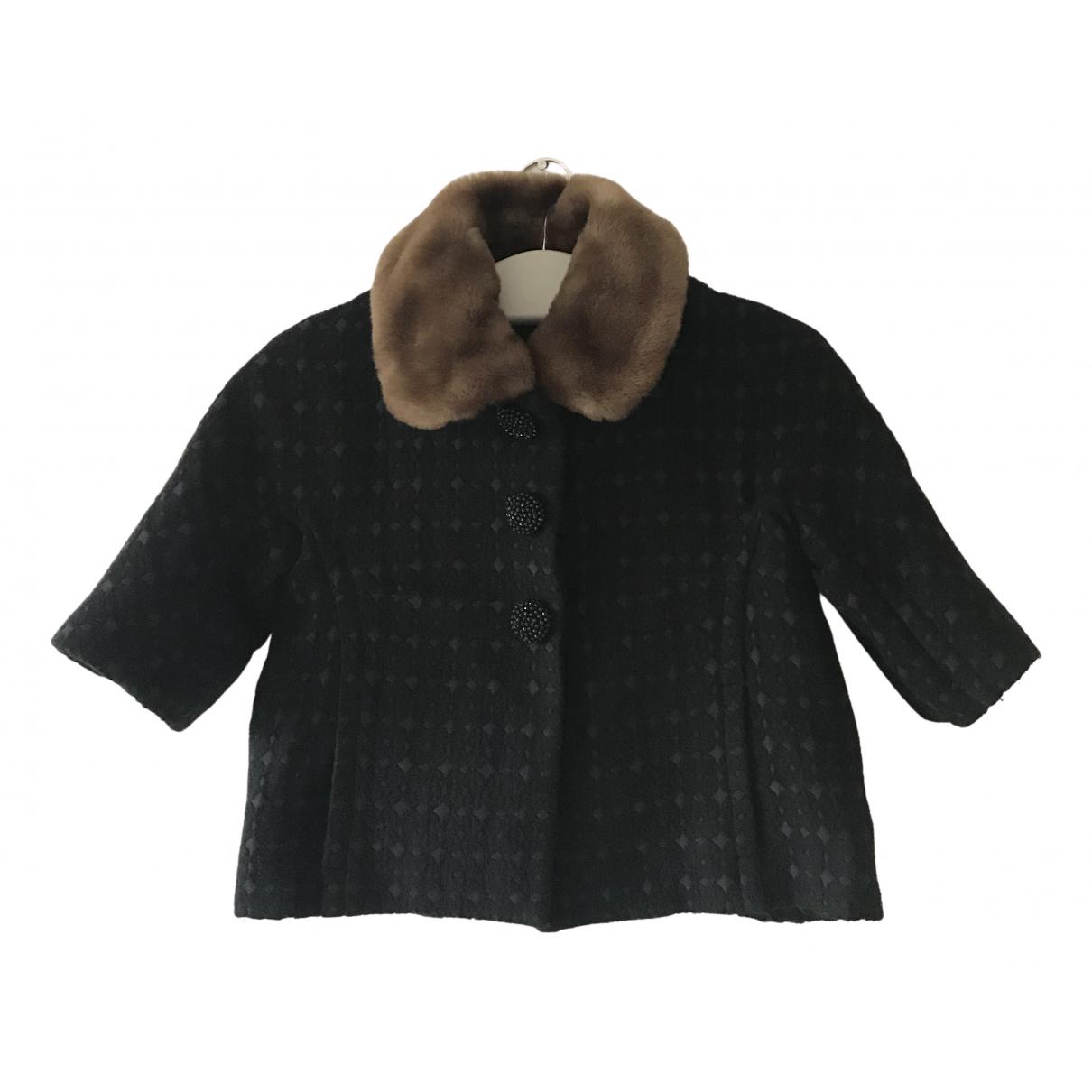 Orla Kiely - Veste   pour femme en laine - noir