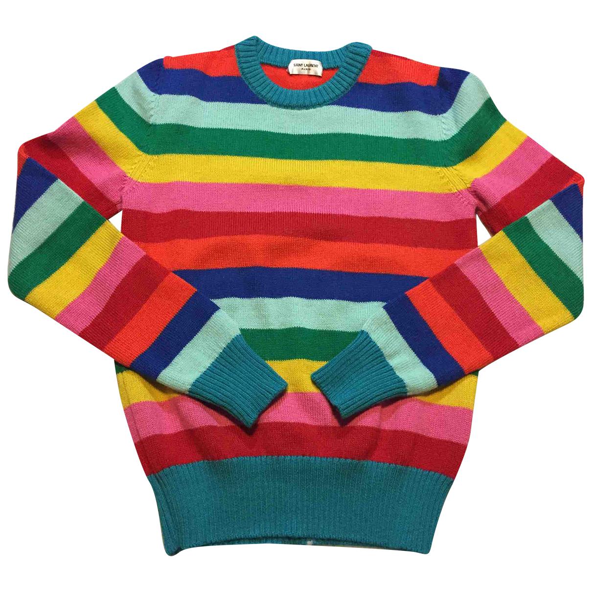 Saint Laurent - Pull   pour femme en laine - multicolore