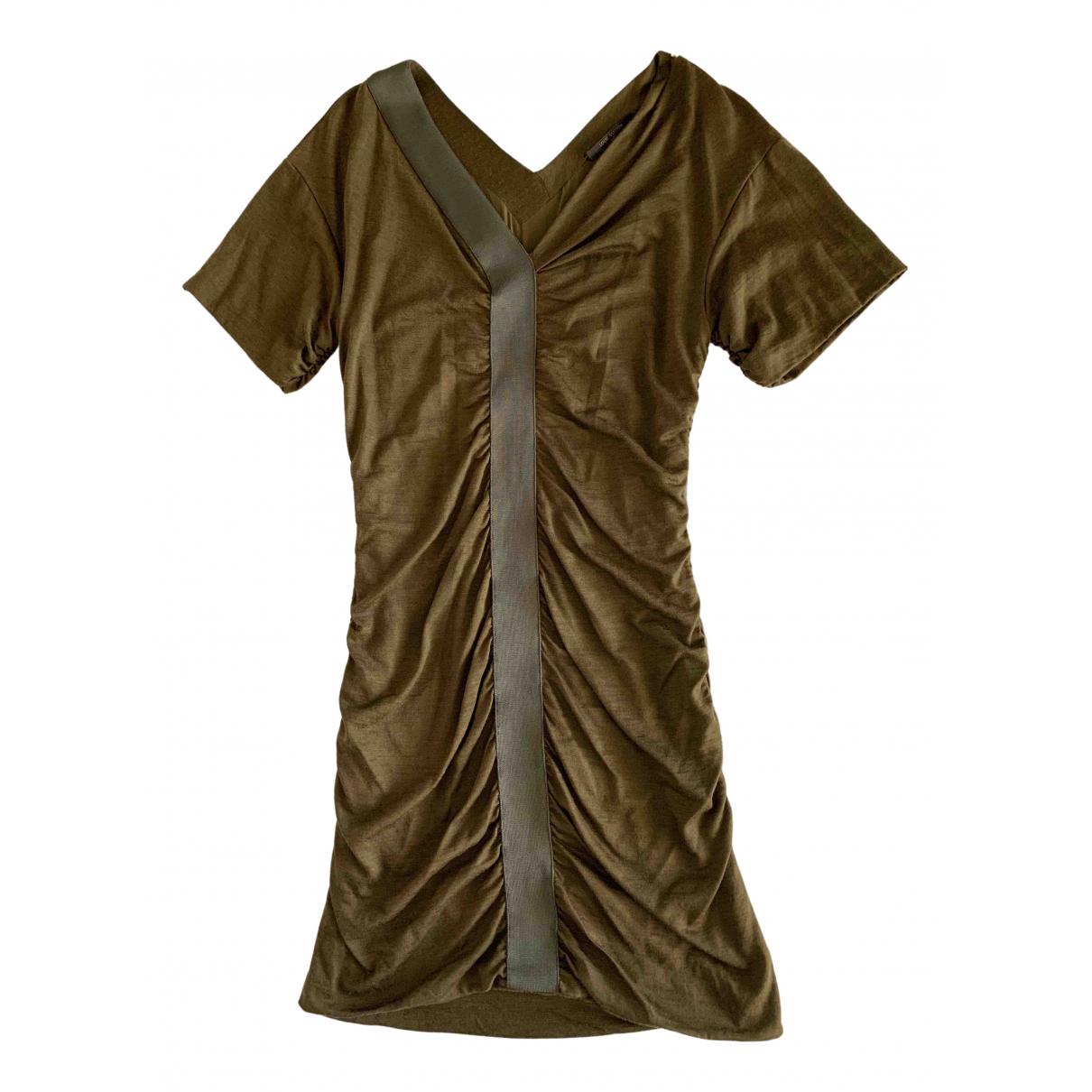 Louis Vuitton - Robe   pour femme en laine - kaki