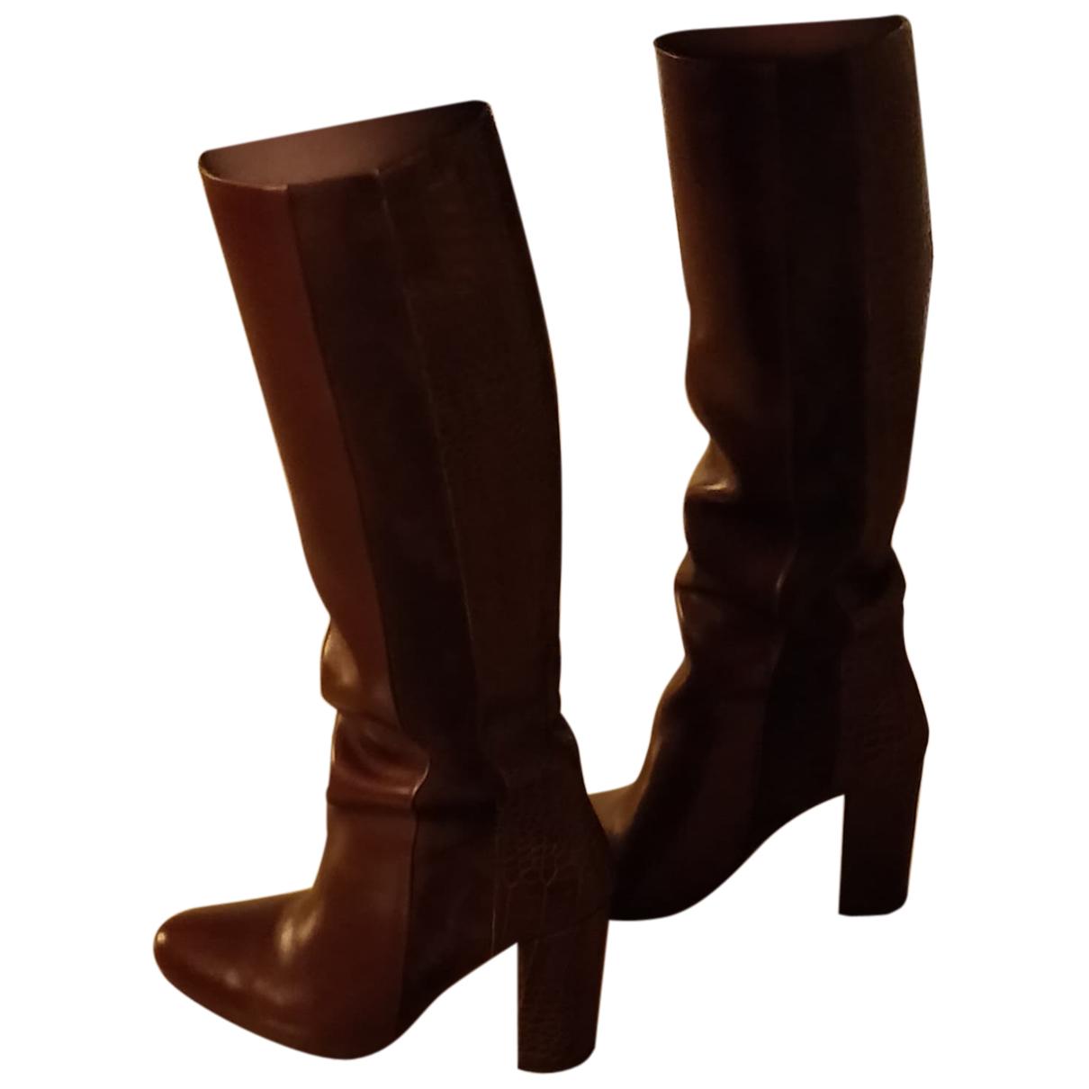 Jonak - Bottes   pour femme en cuir - marron