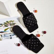 Studded Decor Slide Sandals