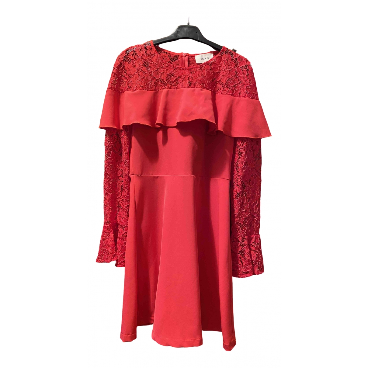 Vicolo \N Kleid in  Rot Spitze