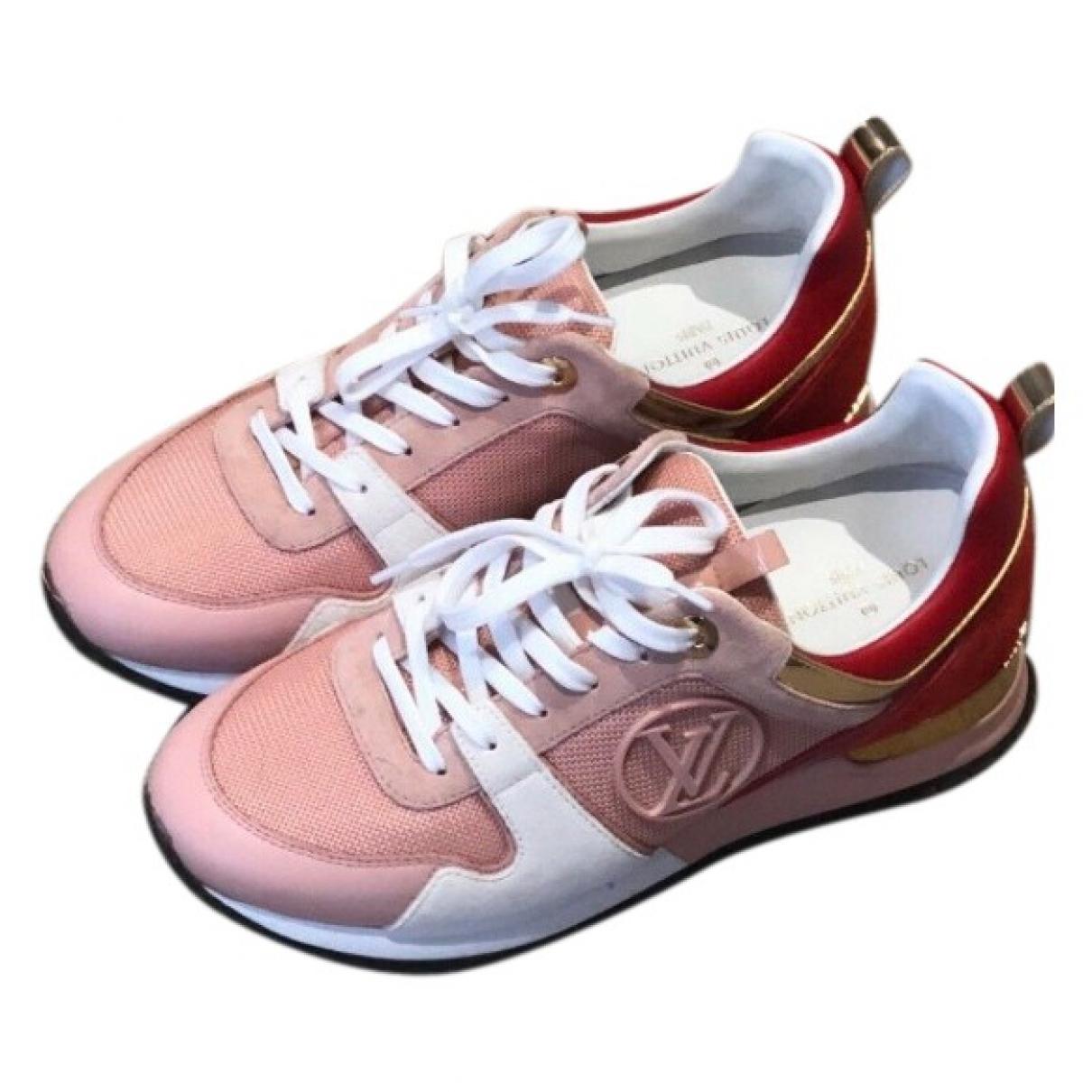 Louis Vuitton - Baskets Run Away pour femme en toile - rose