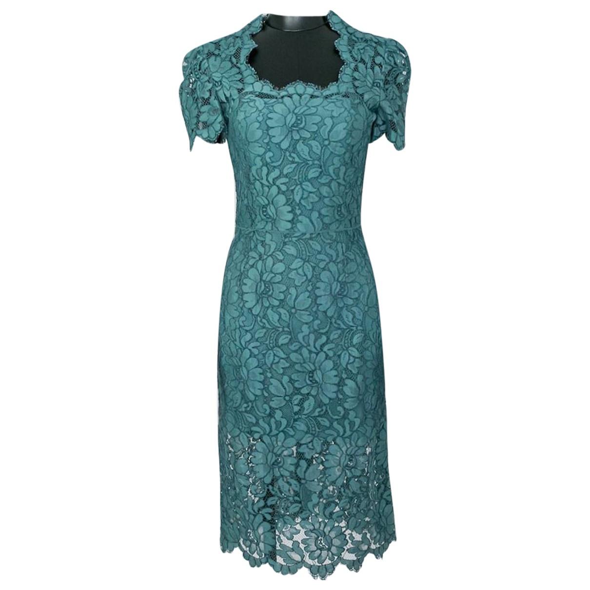 Dolce & Gabbana \N Kleid in  Gruen Spitze
