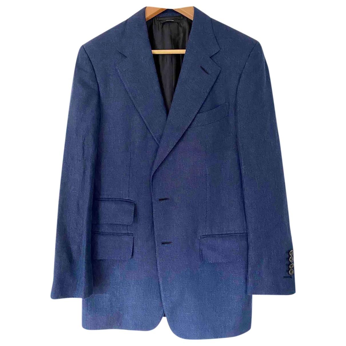 Tom Ford \N Navy Linen Suits for Men 48 IT