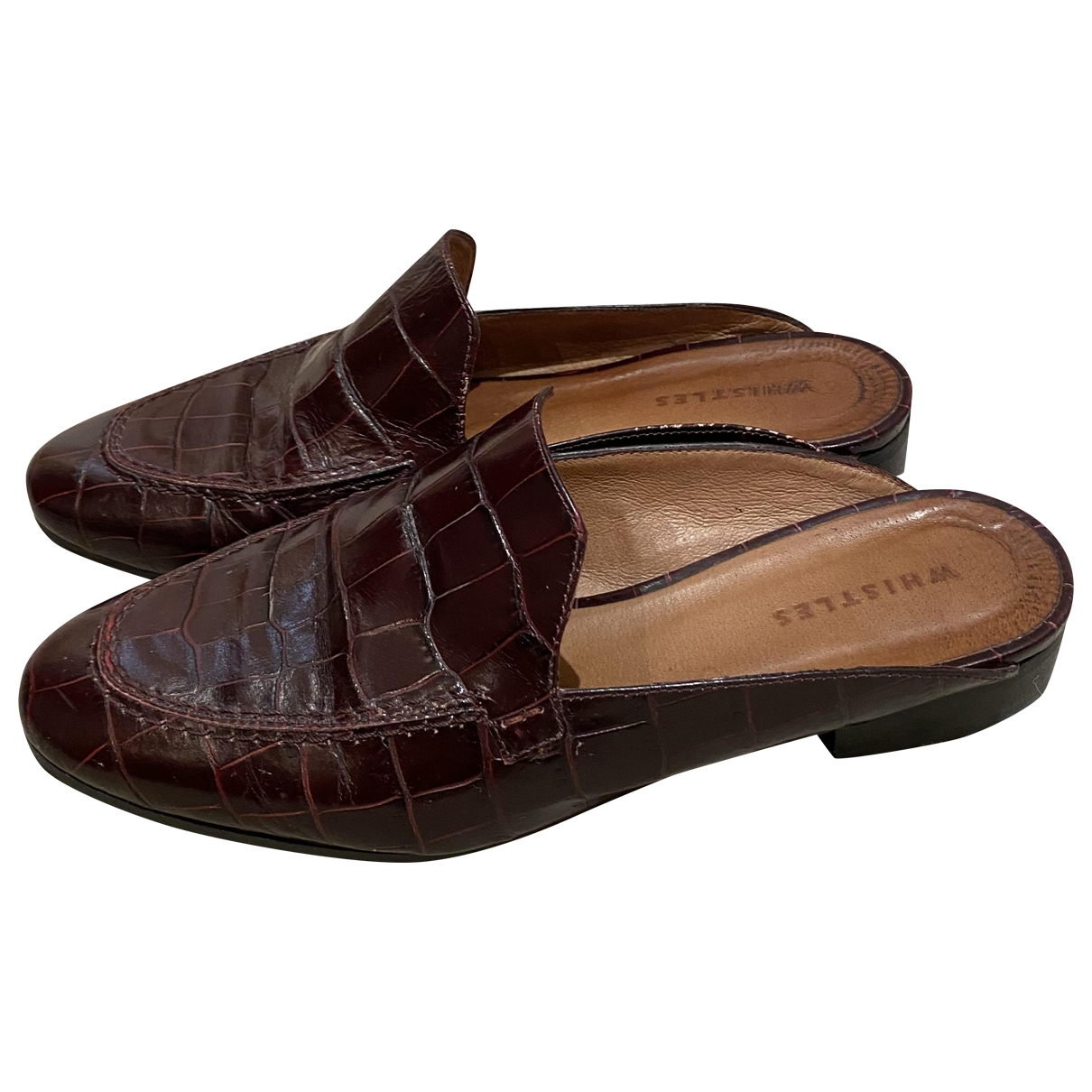 Whistles \N Red Leather Mules & Clogs for Women 38 EU