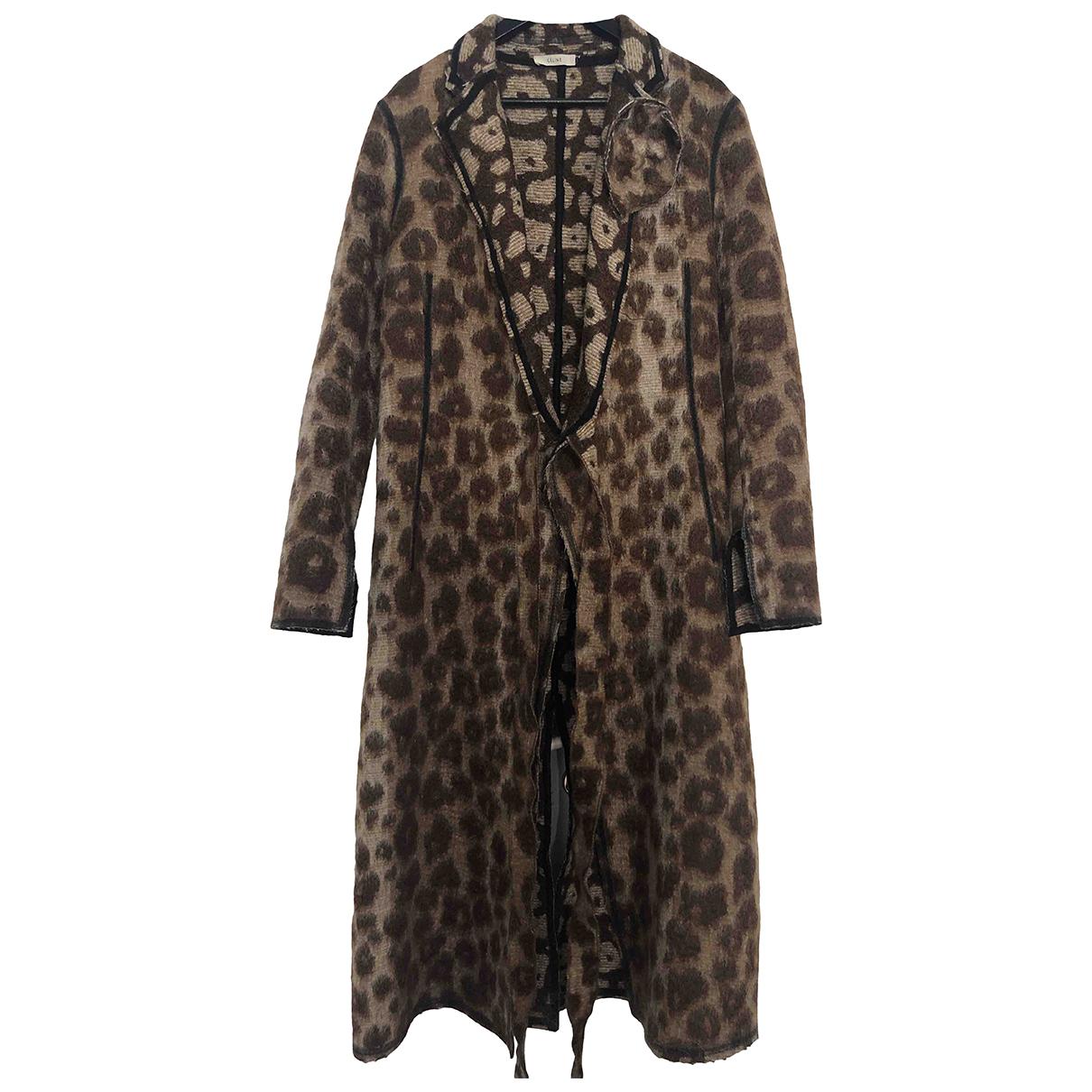 Celine \N Brown Wool coat for Women 40 FR