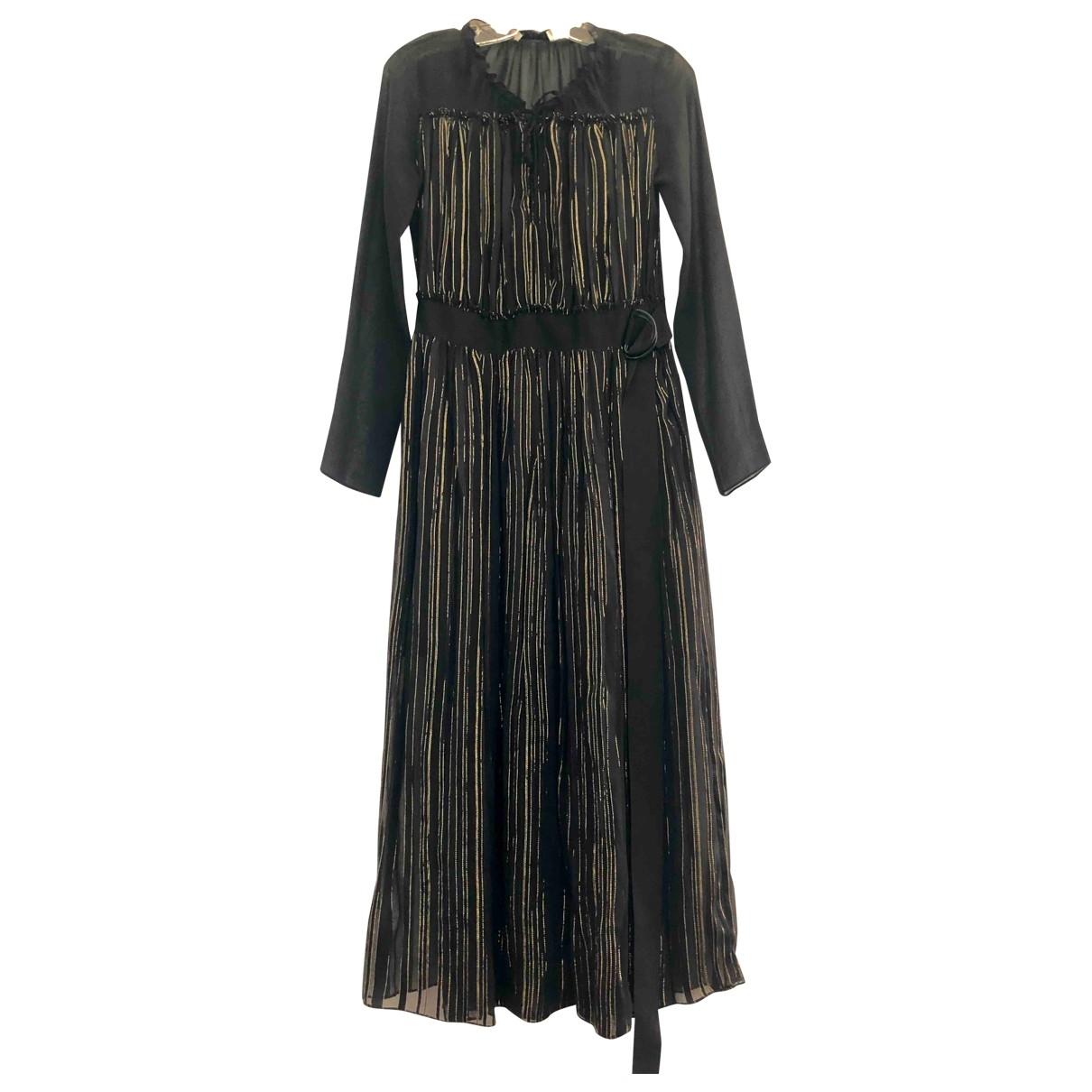 Sandro \N Black Silk dress for Women 2 US