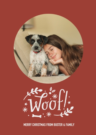 Christmas Photo Cards 5x7 Cards, Standard Cardstock 85lb, Card & Stationery -Canine Christmas