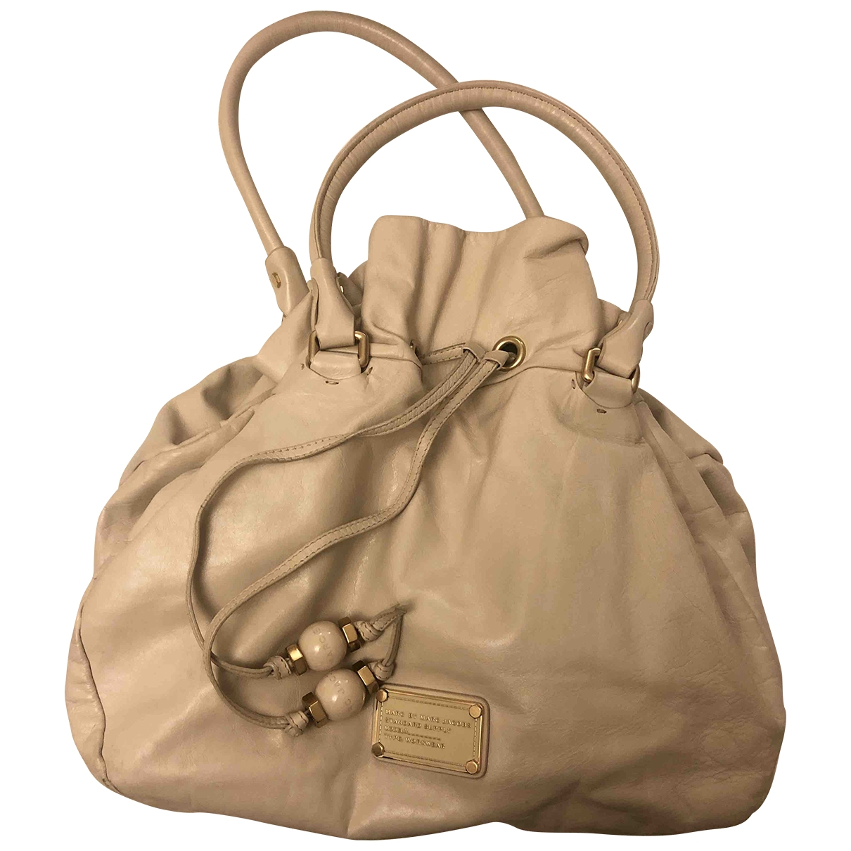 Marc By Marc Jacobs \N Beige Leather handbag for Women \N