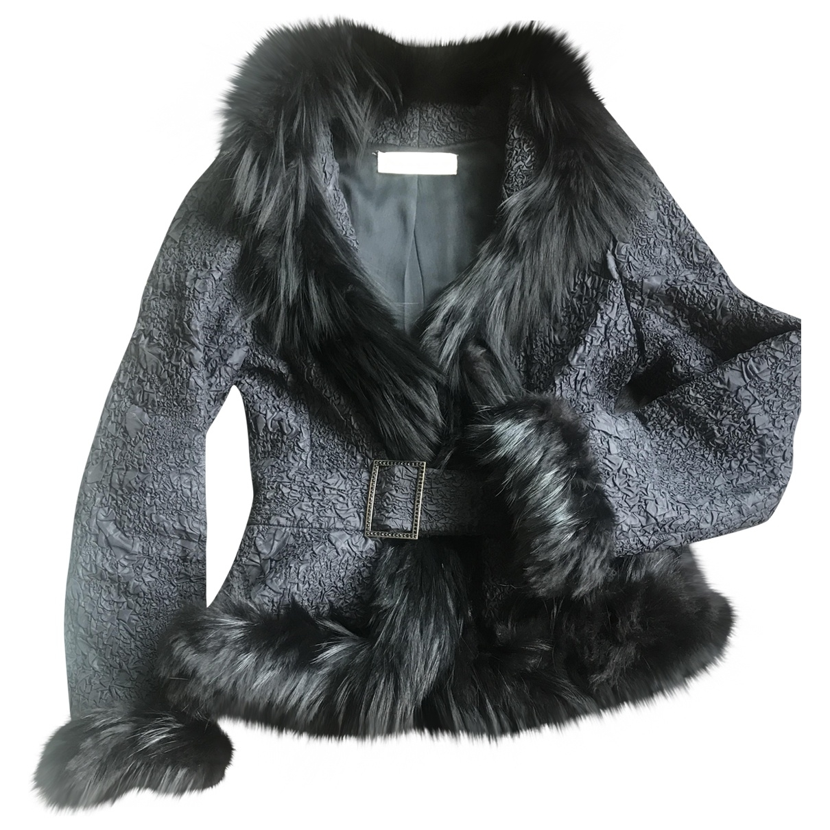 Valentino Garavani - Veste   pour femme en renard - noir