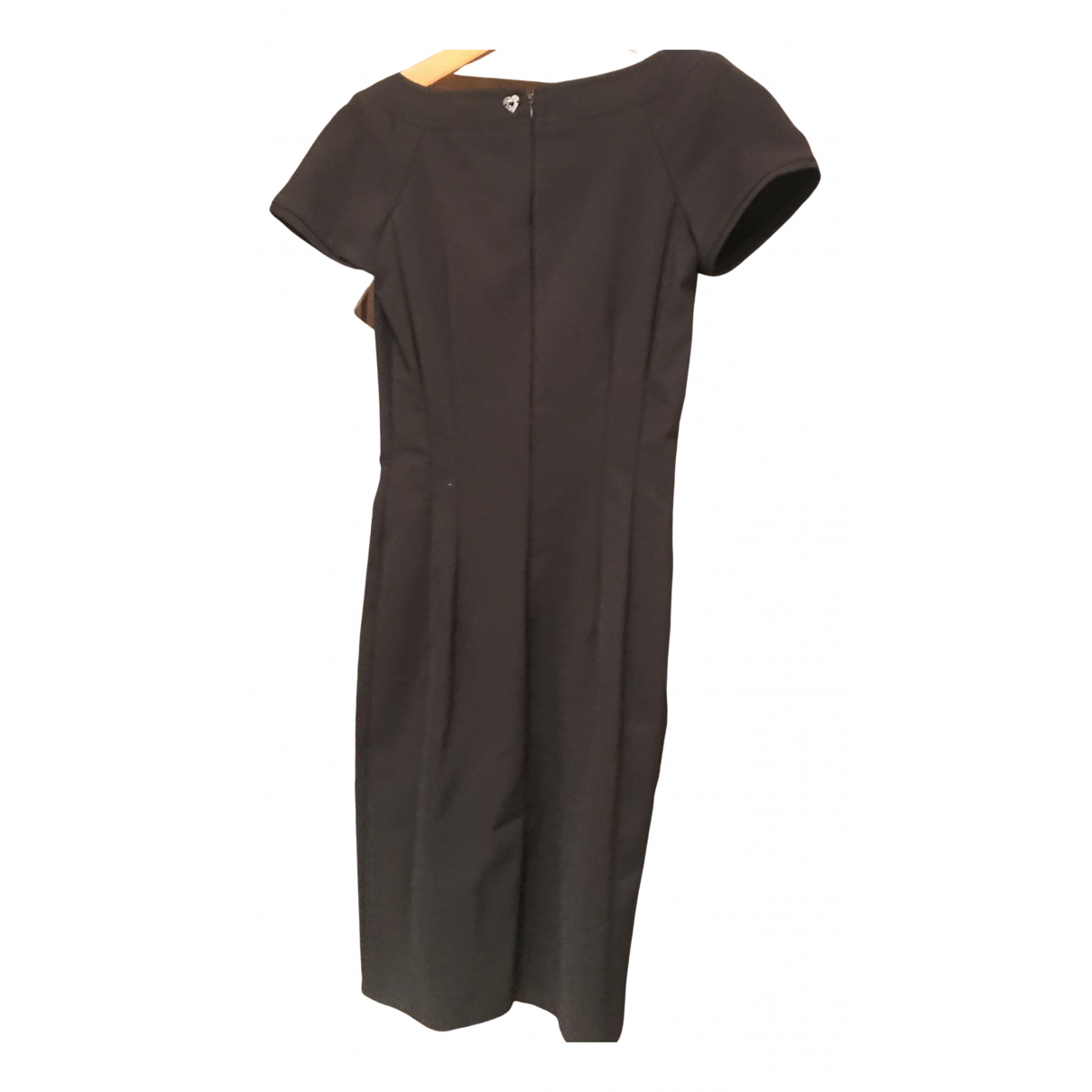 Twin Set - Robe   pour femme en coton - elasthane - noir