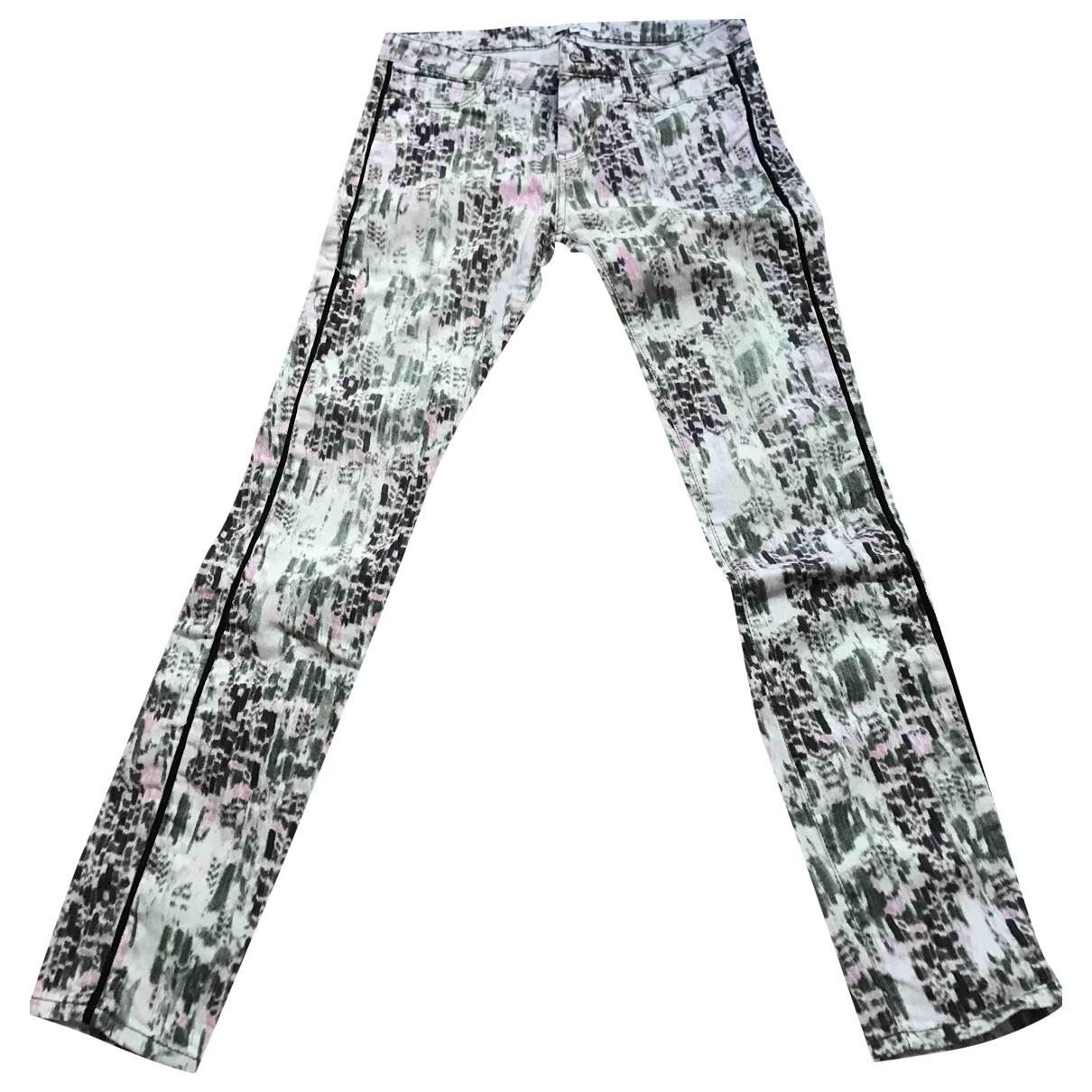 Iro - Pantalon   pour femme en denim - blanc