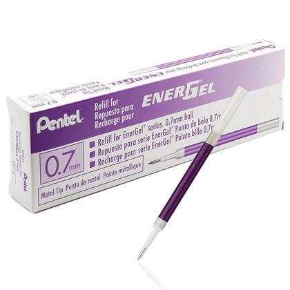 Pentel@ EnerGel@ Liquid Gel Pen Refills 0.7mm Pack of 12 - Violet