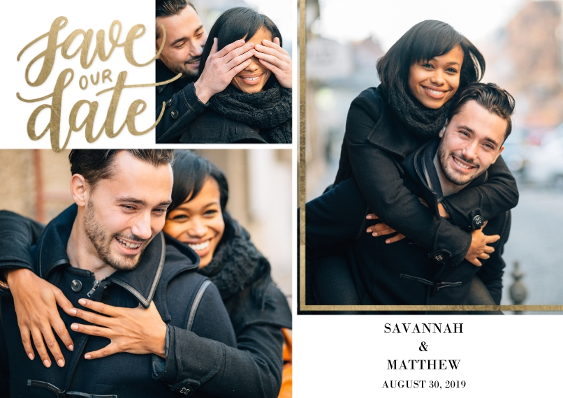 Save the Date Flat Matte Photo Paper Cards with Envelopes, 5x7, Card & Stationery -Save the Date Memories